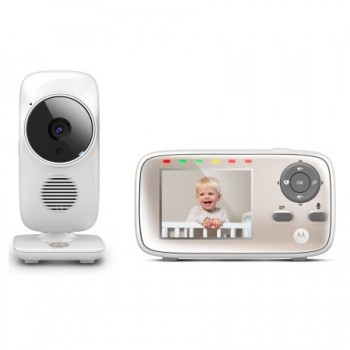 Motorola MBP667 CONNECT Smart Video Baby Monitors with Wi-Fi Internet Viewing - White