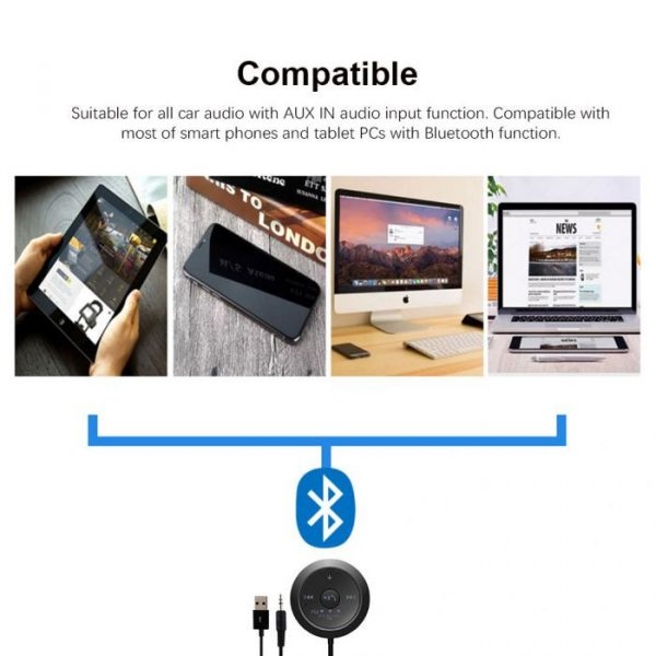 BC20 Wireless Bluetooth Car kit 3.5mm Stereo Music Audio Receiver