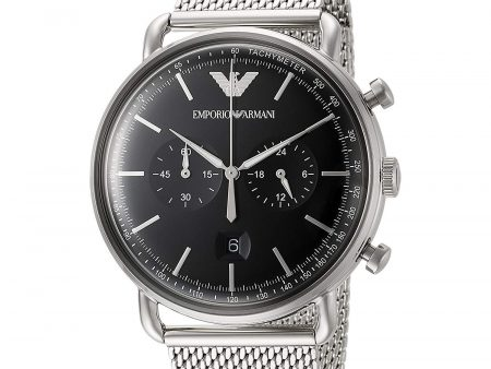 New Emporio Armani AR11104 Quartz Chronograph Stainless Steel Gents Dress Watch