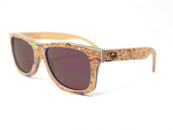 Classic Oversized Beach Wooden Sunglasses Polarised Vintage with Wood Case Model: 025